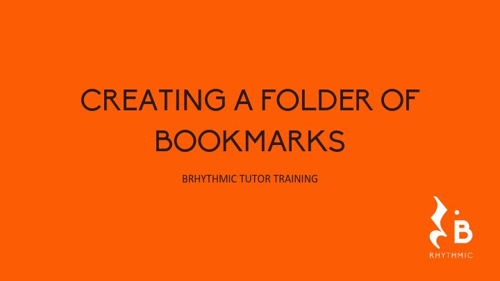 Create a Folder of Bookmarks